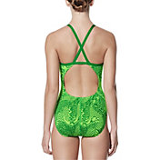 Nike Women's Geo Alloy Crossback Swimsuit