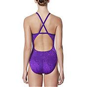Nike Women's Geo Alloy Crossback Swimsuit