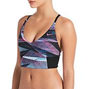 Nike Women's Lineup Crossback V-Neck Midkini Swim Top