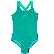 Nike Girls' Nova Flare Prism Crossback Swimsuit