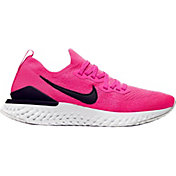 Nike Women's Epic React Flyknit 2 Running Shoes in Pink/Berry
