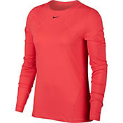 Nike Women's Pro Long Sleeve Mesh Top