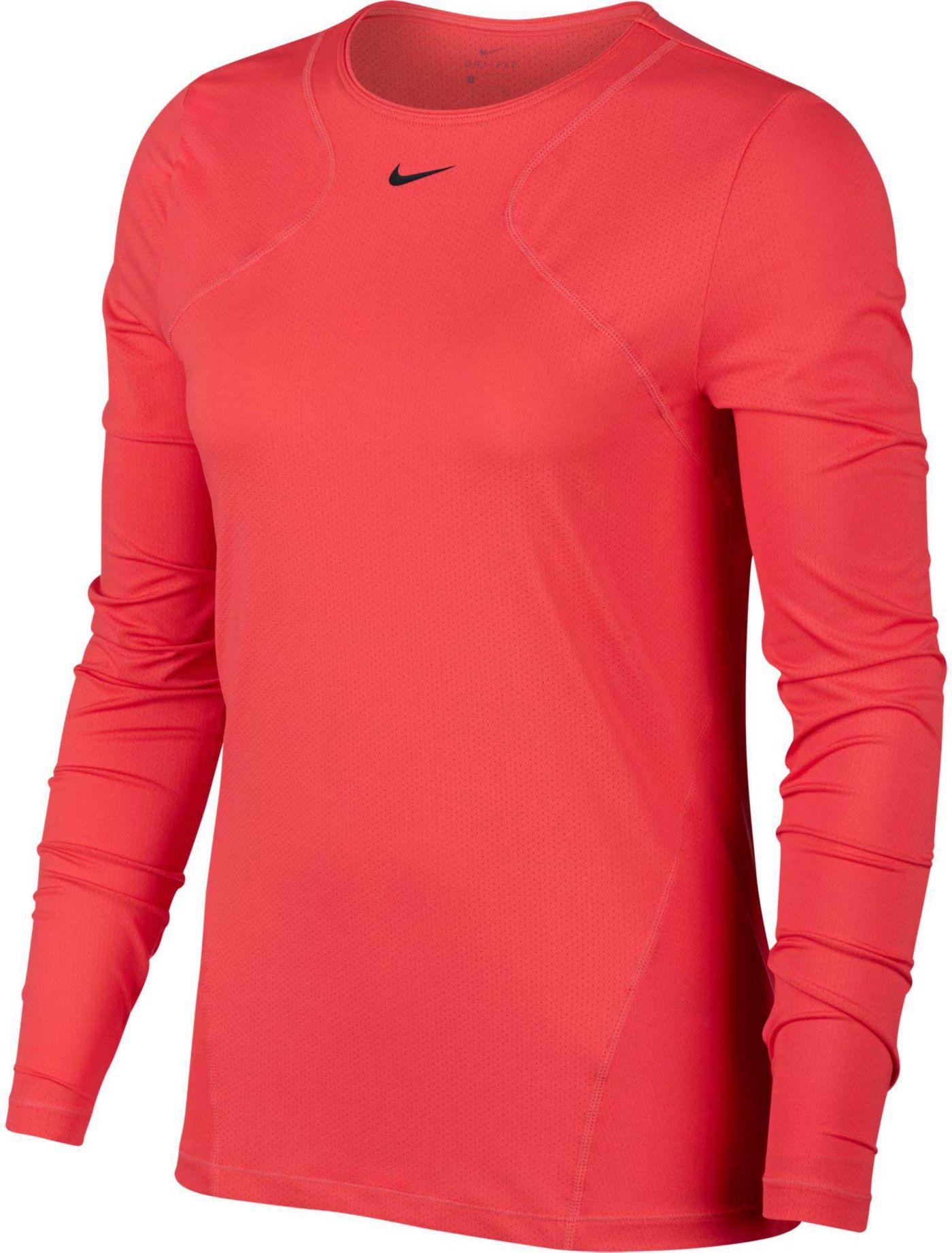 Nike Women's Pro Long Sleeve Mesh Top