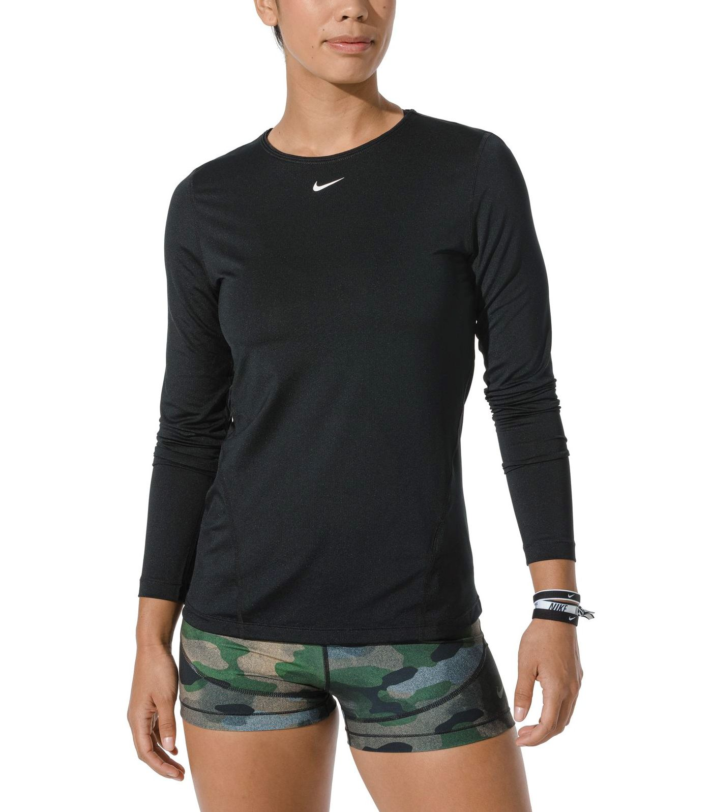 Nike Women's Pro Mesh Long Sleeve Training Top