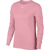 Nike Women's Pro Mesh Long Sleeve Shirt