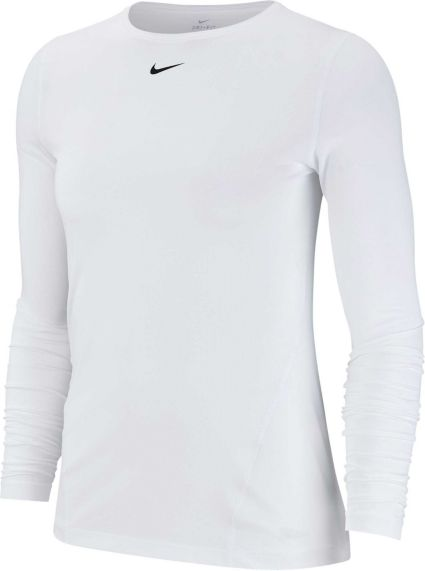 aa67faa385 Nike Women s Pro Mesh Long Sleeve Training Top. noImageFound