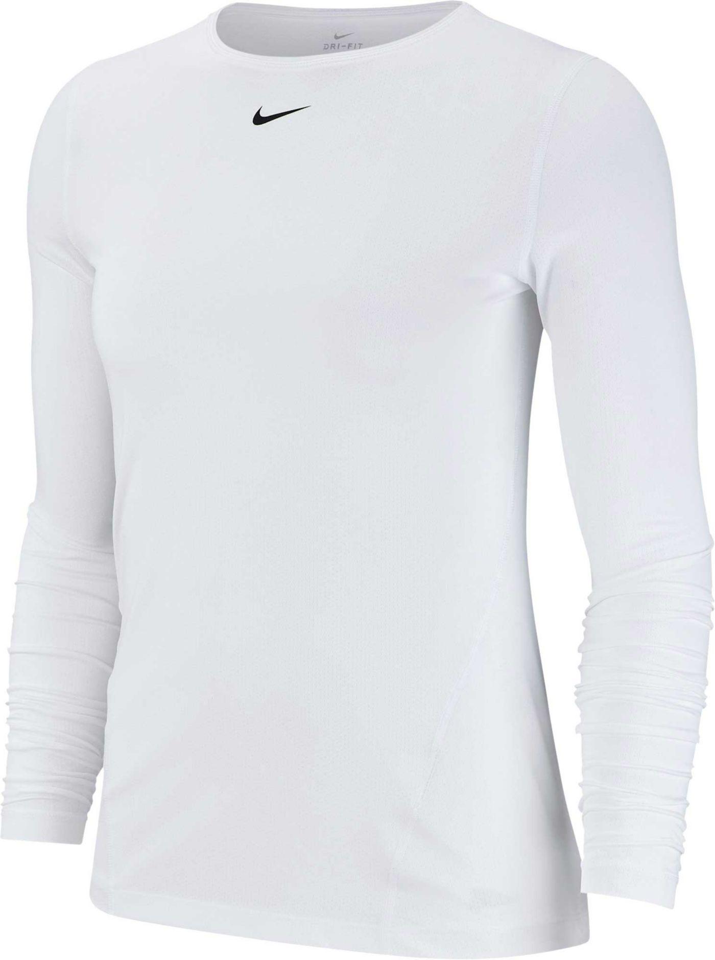 Nike Women's Pro Mesh Long Sleeve Training Top