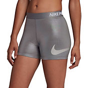 "Nike Women's Pro 3"" Metallic Baselayer Shorts"