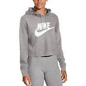 755902871dd9 Product Image · Nike Women s Sportswear Rally Cropped Hoodie · Grey Heather  · Black