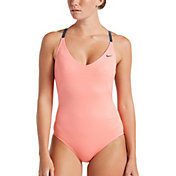 Nike Women's 6:1 Shine Stripe Crossback One Piece Swimsuit