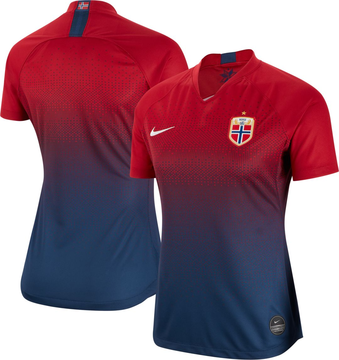 buy popular 17b77 d9c13 Nike Women's 2019 FIFA Women's World Cup Norway Breathe Stadium Home  Replica Jersey