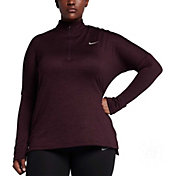 Nike Women's Plus Size Therma Sphere Element Half-Zip Running Shirt