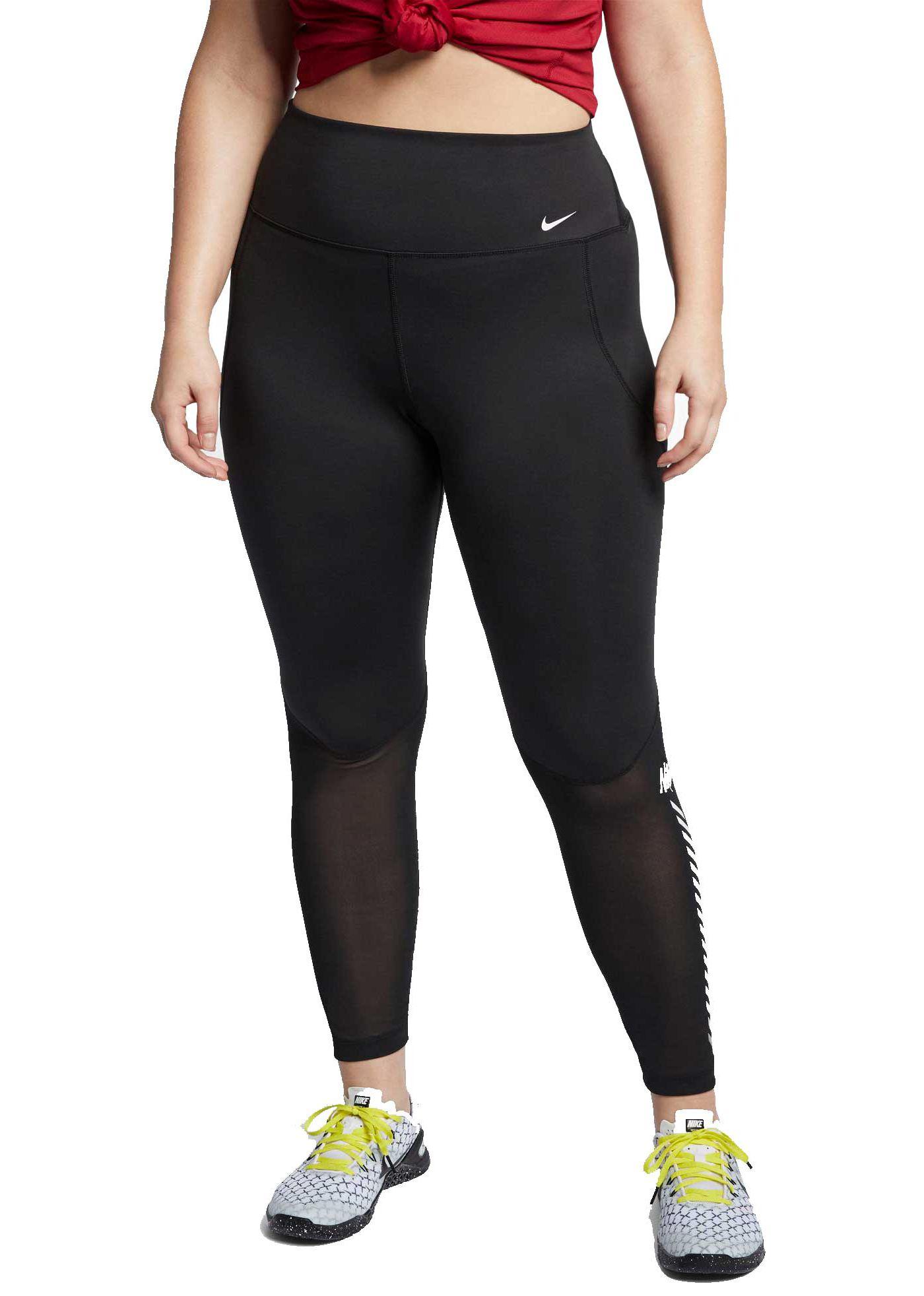 Nike One Women's Plus Size 7/8 Graphic Training Tights