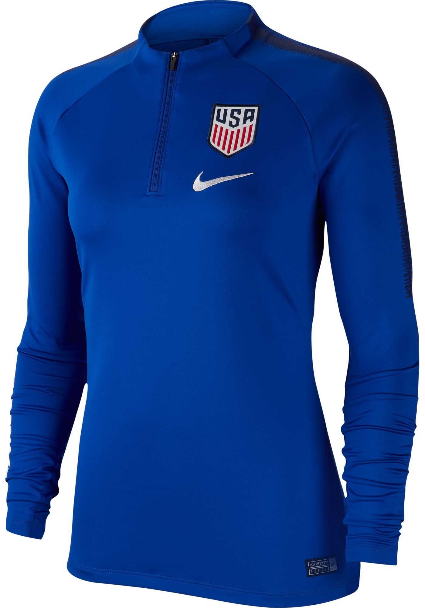 Nike Women's 2019 FIFA Women's World Cup USA Soccer Squad Blue Quarter-Zip Pullover