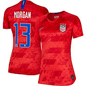 Nike Women's 2019 FIFA Women's World Cup USA Soccer Alex Morgan #13 Breathe Stadium Away Replica Jersey