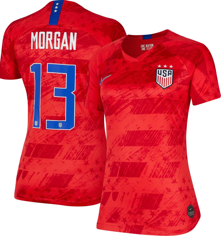 Nike Women's 2019 FIFA Women's World Cup USA Soccer Alex Morgan #13 Breathe Stadium Away Replica Jersey