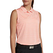 Nike Women's Victory Striped Sleeveless Golf Polo