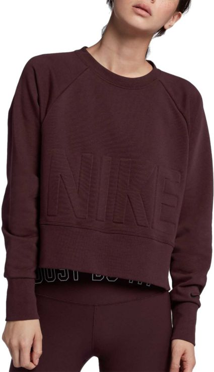 Nike Women S Dri Fit Cropped Training Pullover Dick S Sporting Goods