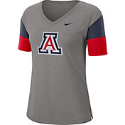 Nike Women's Arizona Wildcats Grey Breathe V-Neck T-Shirt