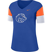Nike Women's Boise State Broncos Blue Breathe V-Neck T-Shirt