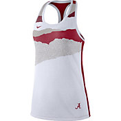 Nike Women's Alabama Crimson Tide Racerback Dri-FIT White Tank Top