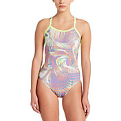 Nike Women's Whirl Crossback One Piece Swimsuit