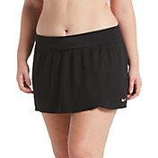 Nike Women's Plus Size Solid Swim Skirt