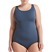 Nike Women's Plus Size Solid Epic Racerback One Piece Swimsuit