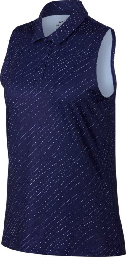 Nike Women's Dri-FIT Sleeveless Golf Polo