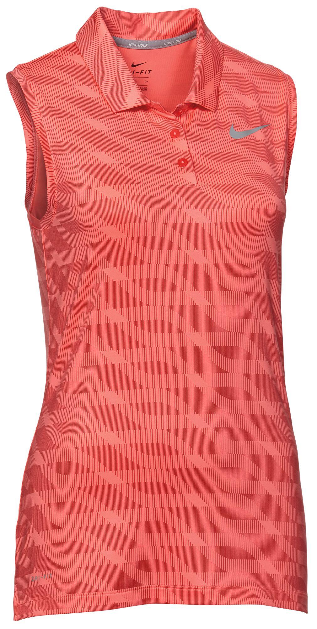 a50ff610311759 Womens Red Sleeveless Golf Shirts