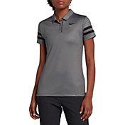 Nike Women's Short Sleeve 2 Stripe Golf Polo