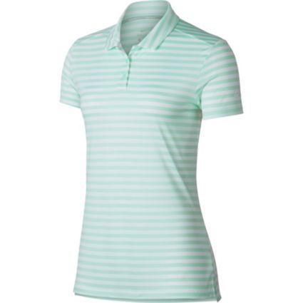 Nike Women's Dry Short Sleeve Striped Golf Polo