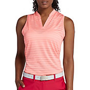Nike Women's Sleeveless Stripe Zonal Cooling Golf Polo