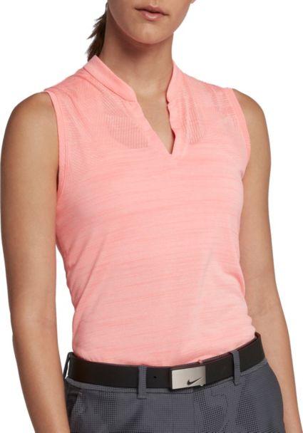 Women's Nike Zonal Cooling Sleeveless Golf Polo