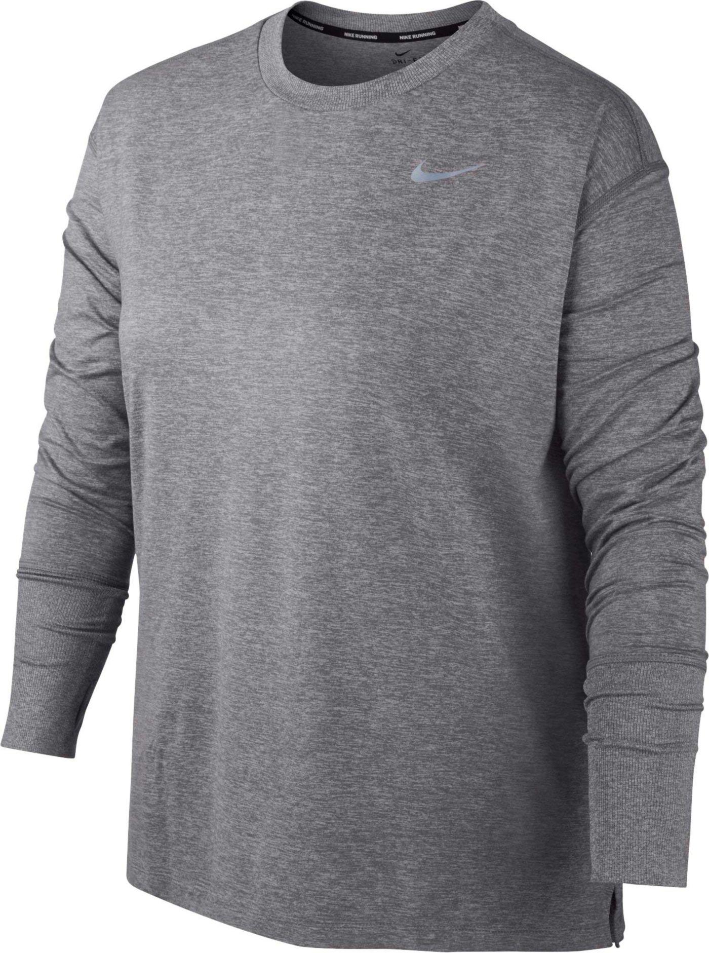 Nike Women's Plus Size Dry Element Long Sleeve Running Shirt