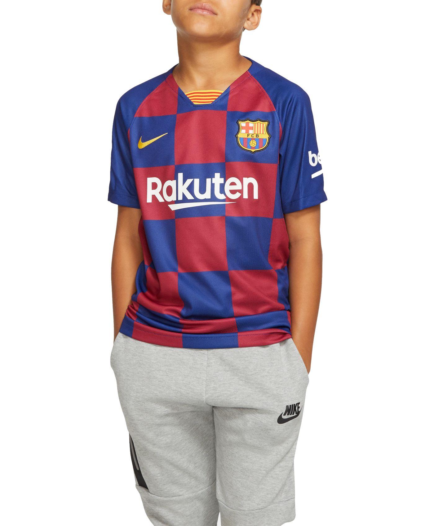 Nike Youth FC Barcelona '19 Breathe Stadium Home Replica Jersey