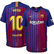 5d72eb73f Product Image · Nike Youth FC Barcelona Lionel Messi  10 2018 Breathe  Stadium Home Replica Jersey