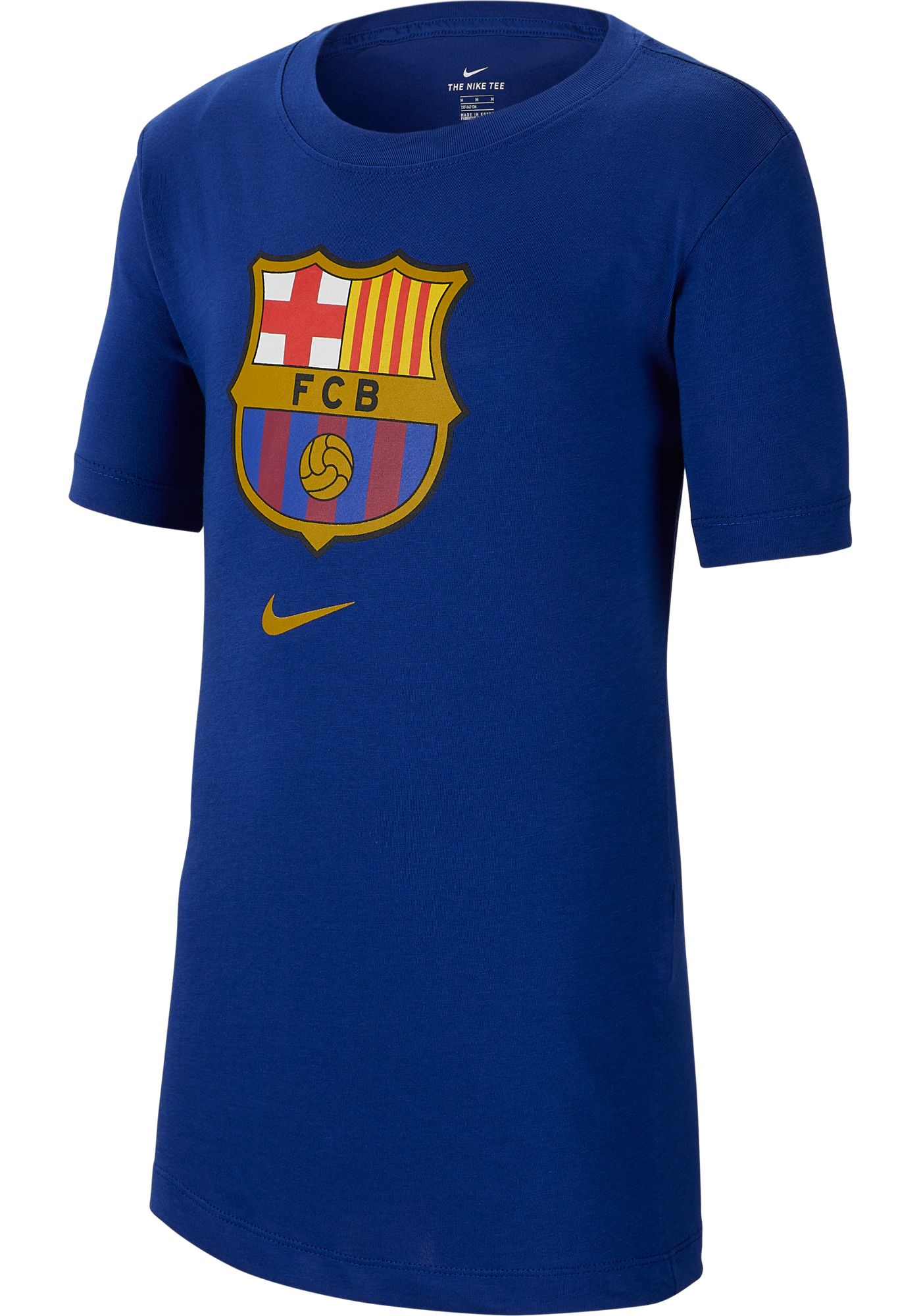 Nike Youth FC Barcelona '19 Crest Blue T-Shirt