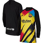 Nike Youth FC Barcelona '19 Breathe Stadium Goal Keeper Replica Jersey
