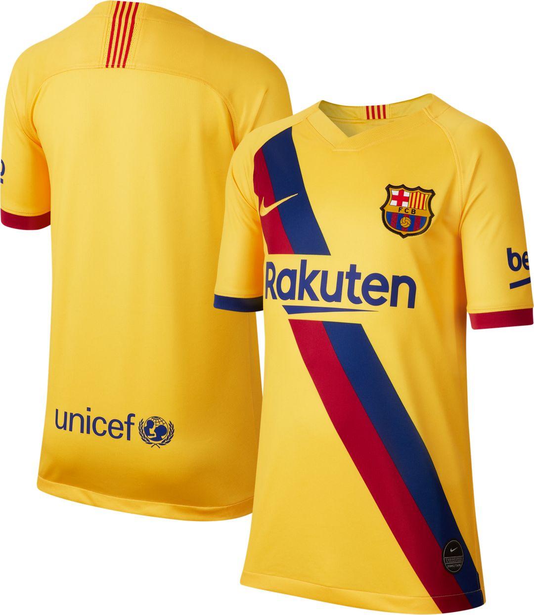 sports shoes de765 b6380 Nike Youth FC Barcelona '19 Breathe Stadium Away Replica Jersey