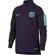 Nike Youth FC Barcelona Black Quarter-Zip Pullover