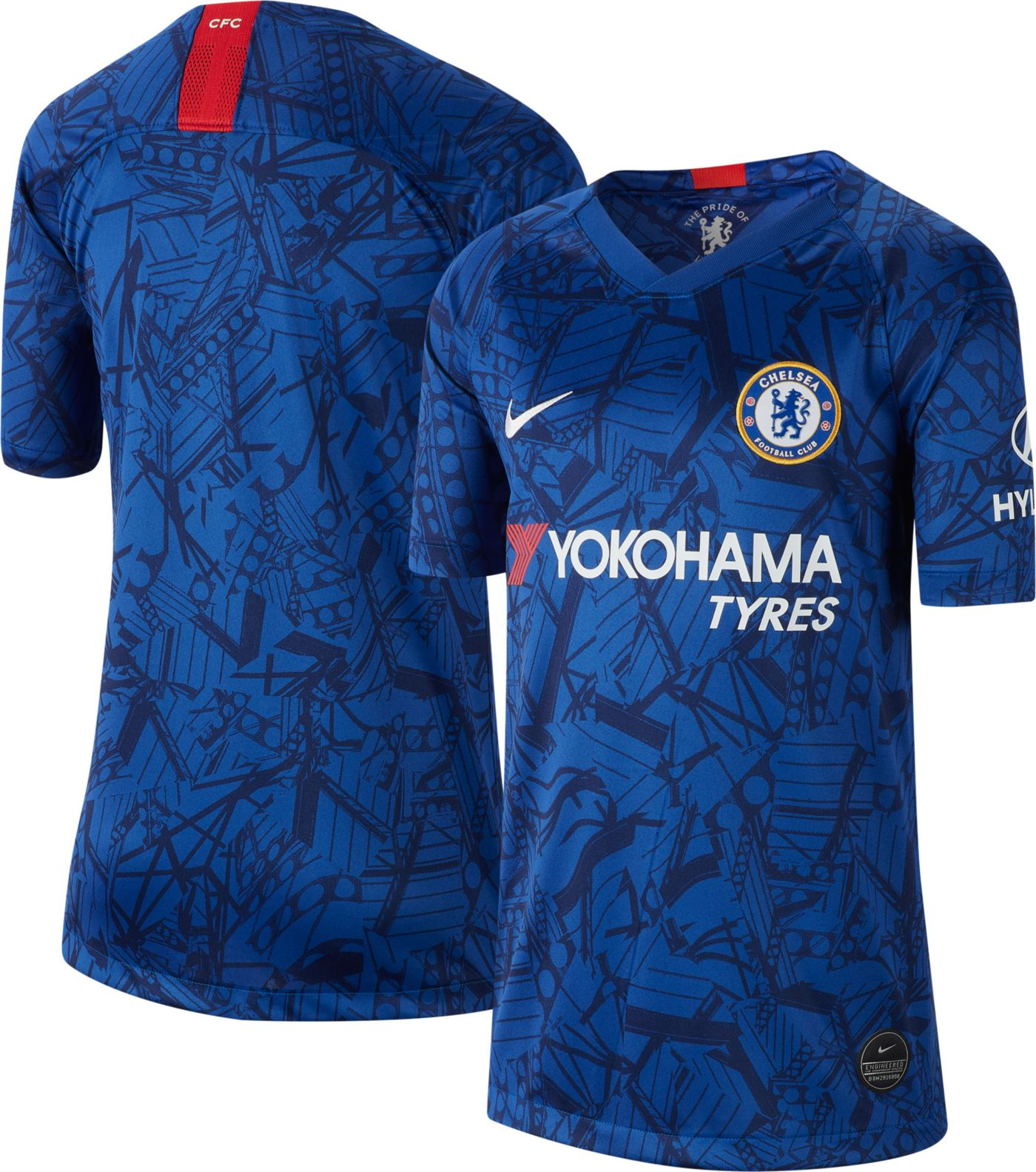 Nike Youth Chelsea FC '19 Breathe Stadium Home Replica Jersey
