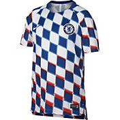 Nike Youth Chelsea FC Checkered Prematch Top
