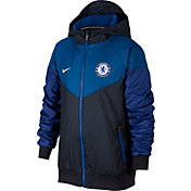 Nike Youth Chelsea FC Windrunner Authentic UNX Navy Full-Zip Jacket