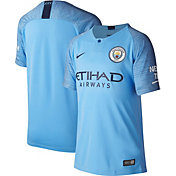 Nike Youth Manchester City 2018 Breathe Stadium Home Replica Jersey