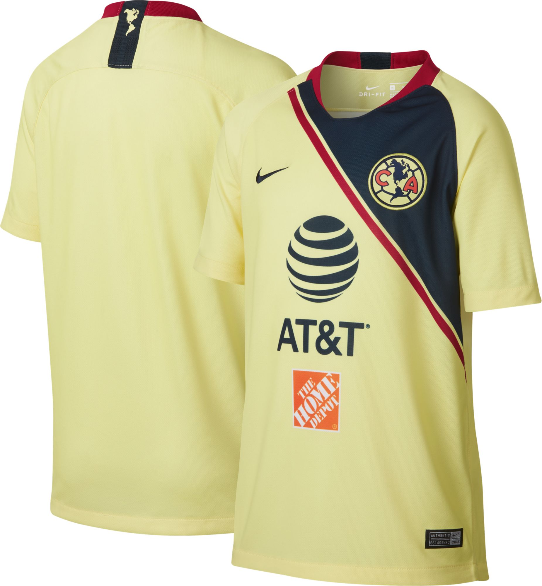 c52f74422 Nike Youth Club America 2018 Breathe Stadium Home Replica Jersey ...