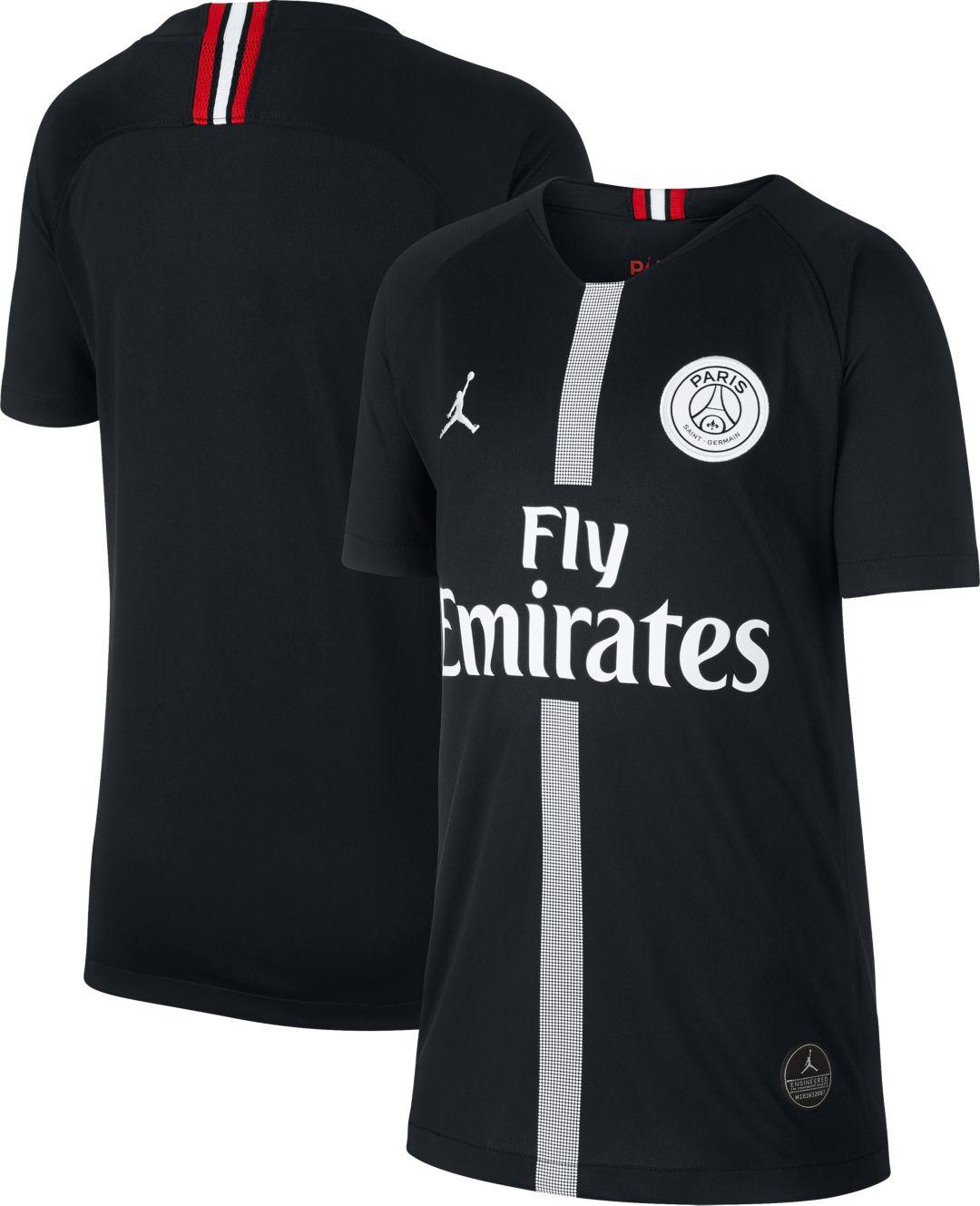 03f2ec4079fbc Jordan Youth Paris Saint-Germain 18/19 Breathe Stadium Black Third Replica  Jeresy 1