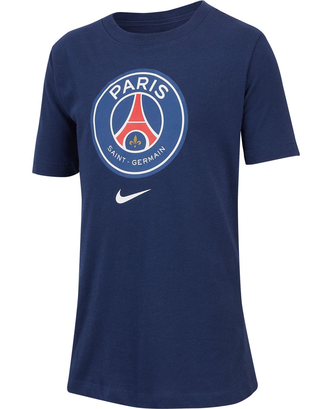 Nike Youth Paris Saint-Germain Crest Navy T-Shirt
