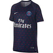 Nike Men's Paris Saint-Germain Navy Prematch Top