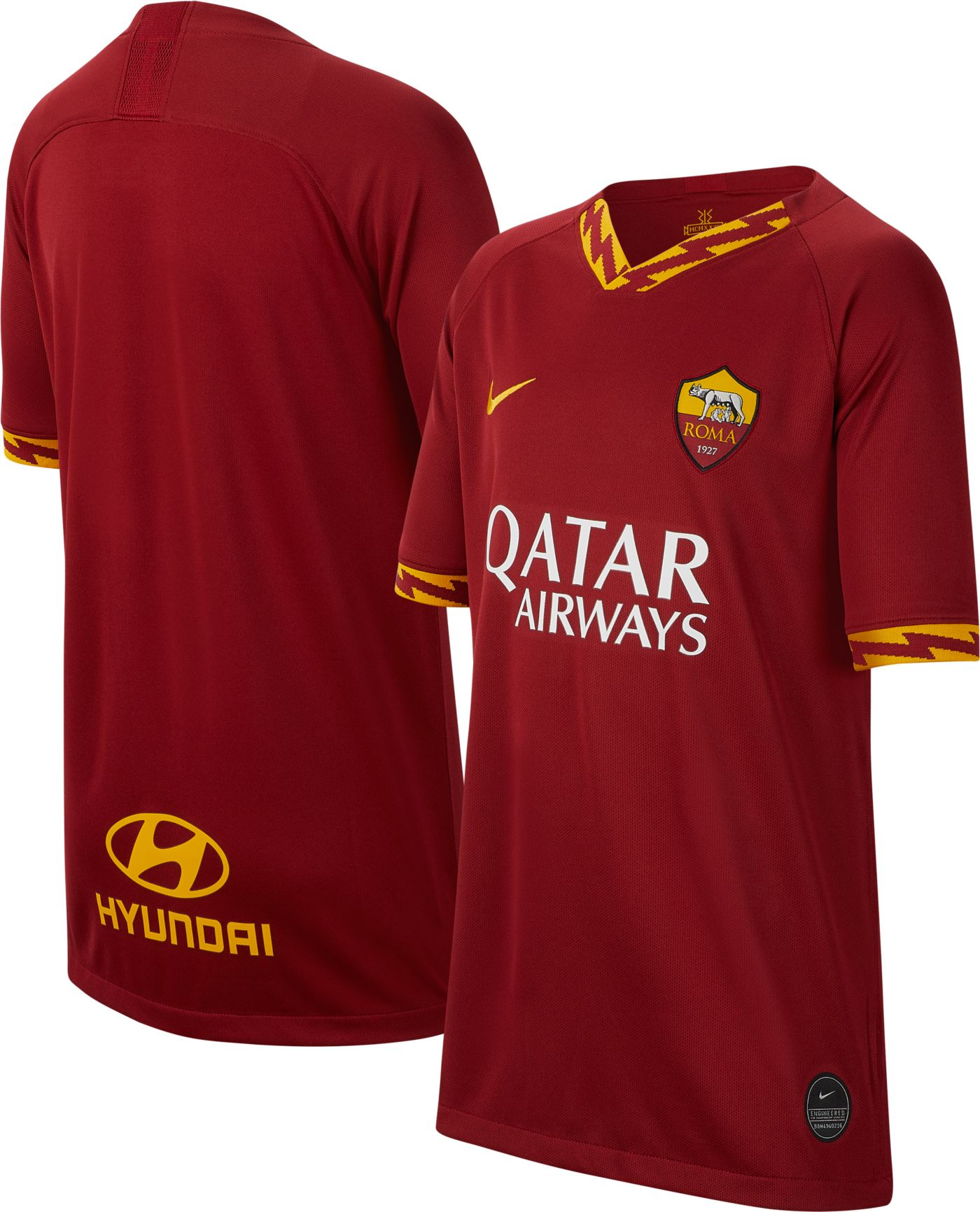 Nike Youth AS Roma '19 Breathe Stadium Home Replica Jersey